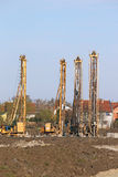 Hydraulic drilling machines Stock Photos