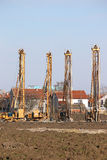 Hydraulic drilling machines on construction site industry Stock Photos