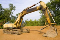 Hydraulic excavator Stock Image