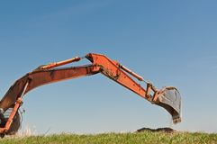 Hydraulic Excavator Arm and Bucket Royalty Free Stock Photos