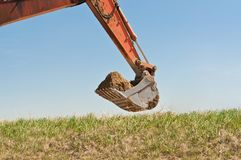 Hydraulic Excavator Arm and Bucket Royalty Free Stock Photography