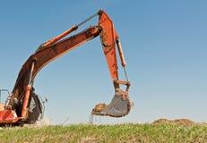 Hydraulic Excavator Arm and Bucket Stock Photography