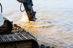 Hydraulic Excavator Arm And Bucket Royalty Free Stock Image