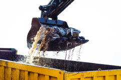 Hydraulic Excavator Arm And Bucket Stock Image