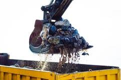 Hydraulic Excavator Arm And Bucket Stock Photo