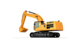 Hydraulic Excavator. . With clipping path royalty free stock photography