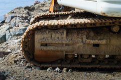 Hydraulic Excavator Shoe And Track Frame Stock Photography