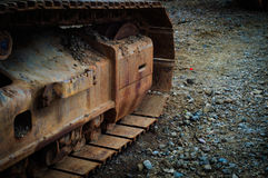 Hydraulic Excavator Shoe And Track Frame Royalty Free Stock Photo