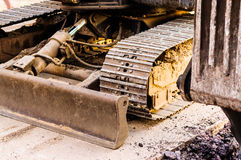 Hydraulic Excavator Shoe And Track Frame Royalty Free Stock Images