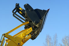 Hydraulic excavator at work Royalty Free Stock Image