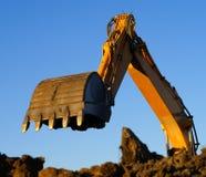 Hydraulic excavator at work Royalty Free Stock Photos