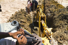 Hydraulic Excavator working in the construction site Royalty Free Stock Photography