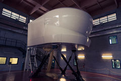 Hydraulic Flight Simulator. For the training of the Plane Pilots Royalty Free Stock Photo