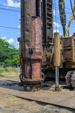 Hydraulic Foundation piles drilling machine on site Royalty Free Stock Photography