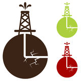 Hydraulic Fracturing Icon. An image of a hydraulic fracturing icon Stock Photography