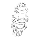 Hydraulic gear motor Stock Photos