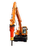 Hydraulic hammer. Very powerful hydraulic hammer for building work Royalty Free Stock Photos