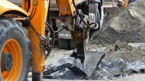 Hydraulic hammer stock video footage