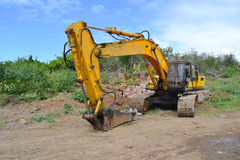 Hydraulic hammer machine Stock Images