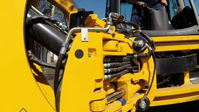 Hydraulic Heavy Machinery stock video footage