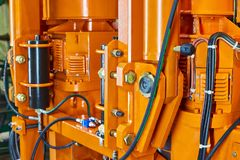 Free Hydraulic Hose System Oil Drive System Royalty Free Stock Photo - 163798815