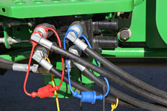 Hydraulic Hoses Stock Photography