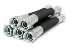 Hydraulic hoses Stock Images