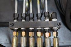 Hydraulic Hoses Stock Image