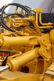 Hydraulic hoses and pistons. Of a modern tractor Royalty Free Stock Photography