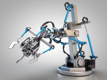Hydraulic industrial robot Stock Photography