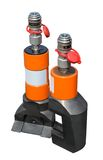 Hydraulic jack Royalty Free Stock Photo