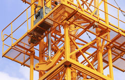 Hydraulic Jacks of Tower Crane Royalty Free Stock Photos