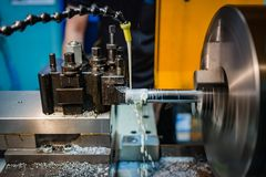 Hydraulic lathe machinery royalty free stock image