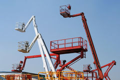 Hydraulic lift machines Royalty Free Stock Photo