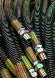Hydraulic line. Stock Photos
