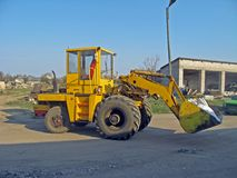 Hydraulic loader Stock Images