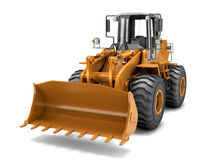 Hydraulic loader. Front view.. On white Royalty Free Stock Image