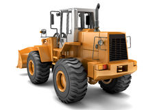 Hydraulic loader. Rear view. Isolated on white. Orange Hydraulic loader. Rear view. Isolated on white background Stock Image