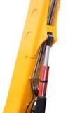 Hydraulic mechanisms. Of the modern elevating crane Royalty Free Stock Photo