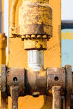 Hydraulic metal pipe Royalty Free Stock Photo