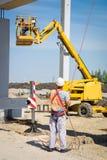 Hydraulic mobile construction platform Stock Photos