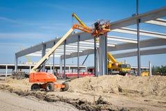 Hydraulic mobile construction platform Royalty Free Stock Photos