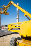 Hydraulic mobile construction platform Royalty Free Stock Images