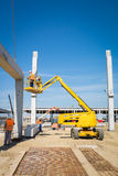 Hydraulic mobile construction platform Stock Photography