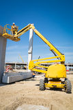 Hydraulic mobile construction platform Royalty Free Stock Photos