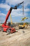 Hydraulic mobile construction platform Royalty Free Stock Image