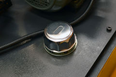 Hydraulic oil cap Stock Image