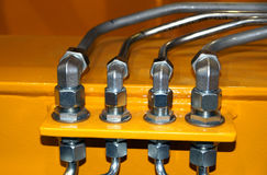 Hydraulic pipes Royalty Free Stock Photography