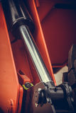 Hydraulic piston detail Stock Images
