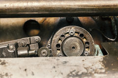 Hydraulic pistons close up Royalty Free Stock Images
